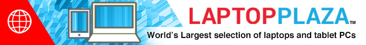 Laptop Plaza - We ship Notebooks / Laptops, PDAs, Projectors, LCD Monitors and Options worldwide.